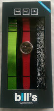 BILL'S WATCH ADDICT PKADD06 INTERCHANGEABLE STRAPS BNIB WARRANTY B!LL'S WATCHES