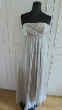 Monsoon Maxi Seta Senza Spalline Donna Matrimonio Festa Abito SZ uk10eu38us6
