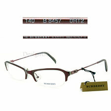 Burberry B 8457 0RT2 Half-Rimless 51/18/140 Eyeglasses Rx Made in Italy - New