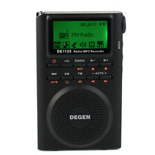 DEGEN DE1125 FM MW SW Digital Radio Recorder FM Stereo MW SW AM MP3 Player 4GB