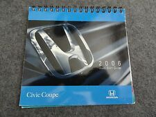 2006 Honda Civic Coupe Quick Reference Guide Owners Manual Supplement