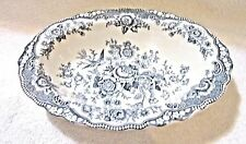 Vintage Serving Dish/Bowl Crown Ducal Blue Bristol 9 Inches