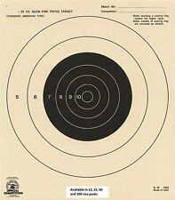 B-16 NRA Official 25 Yard Slow Fire Pistol Target (100) Tagboard