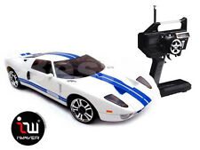 NEW IWAVER 02M FORD GT 40 WHITE RC CAR 1:28 FM RTR MINI-Z