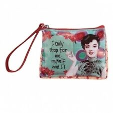 I ONLY SHOP FOR ME... GEISHA GIRL COIN PURSE MAKEUP BAG Vinyl, zipper fob