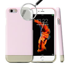 iPhone 6s Case, GMYLE Hybrid Case Slide - Baby Pink & Metallic Champagne Gold