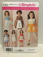 Simplicity Sewing Pattern For Children's Clothes Size A3,4,5,6,7,8