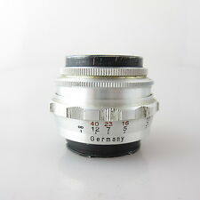 Für Exa Exakta E. Ludwig Meritar red V 2.9/50 Objektiv / prime lens