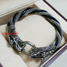 "8.66"" 2014 New Mens Dragon Clasp Stainless Steel Fashion Chain Bracelet Silver"