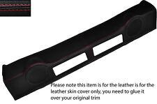 Rojo Stitch altavoz Trasero Panel De Tapicería De Cuero Skin Tapa se ajusta Nissan 350z 02-09