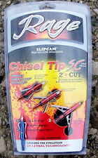 Rage Chisel Tip 2-Blade SC Broadheads 3 Pack with Practice Head USA
