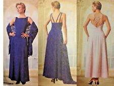 UC McCalls 9355 Sewing Pattern Evening Gown Dress Cocktail Formal 16-20 Bridal