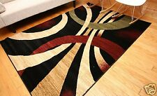 NEW 6x8 Brown Beige Cream Black Olive Modern Floral Wool Throw Area Rug Mat 5x7