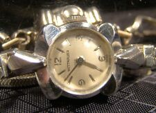 Beautiful Vintage Wittnauer 14 K Solid White Gold 17 Jewel Working Swiss Watch