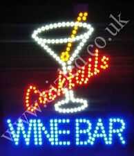 QUALITY  FLASHING  COCKTAIL WINE BAR led new shop signs