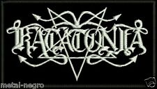 KATATONIA EMBROIDERED PATCH AMORPHIS TIAMAT MOONSPELL AGALLOCH UARAL Metal Negro