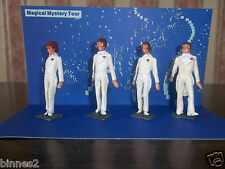 "THE BEATLES ""LEAD"" HAND PAINTED FIGURES MAGICAL MYSTERY TOUR WITH BACKING CARD"