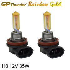GP Thunder 2500K Rainbow Gold H8 12V 35W Xenon Light Bulbs Pair