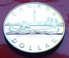 SILVER DOLLAR PROOF 1984 Canada TORONTO COMMEMORATIVE, 1834-1984 150 year comm.