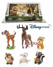 Disney Store Bambi Thumper 6 pc Figure Mini Doll Play Set PVC Cake Topper NEW