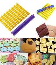 Alphabet Letter Number Biscuit Cookie Cutter Press Stamp Embosser Cake Mould set