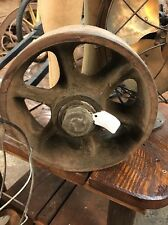 Vintage Cast Iron Metal Well Pulley Gear Cart Wheel Antique Industrial Steampunk