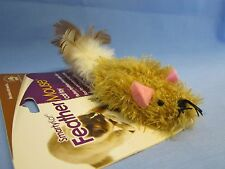 "FUN "" FEATHER MOUSE  FUN CAT TOY ""  This Feathery Mouse Drive's Cat Wild ! ! !"