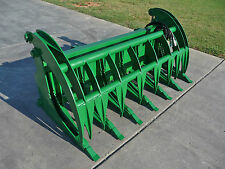 "John Deere Tractor Loader Attachment 74"" Root Rake Grapple Bucket - Ship $199"