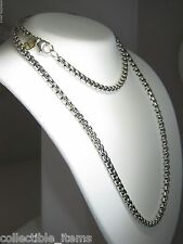 DAVID YURMAN 3.6MM WIDE BOX CHAIN STERLING SILVER & 14K DY TAG 36 INCH NECKLACE