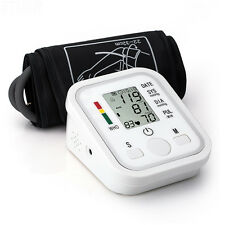 Arm Cuff LCD Digital Blood Pressure Heart Beat Pulse Monitor High Quality