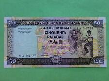 Macau (Macao) BNU 1999 50 Patacas (EF) MA 94777