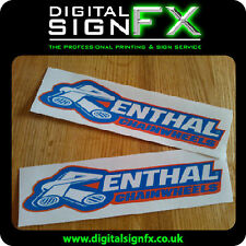 Renthal Chainwheels Motorbike Moto-X Vinyl Stickers Decals Graphic (x2) 215x50mm