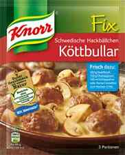 5 x Knorr Fix for Schwedische Hackbällchen Köttbullar Swedish Meatballs New
