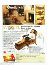 PUBLICITE ADVERTISING 116  1989  Everstyl  fauteuil Déco  catalogue