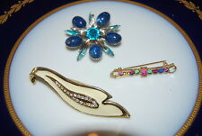 WONDERFUL VINTAGE SET OF THREE ASSORTED PINS OR BROOCHES AS PER PICTURES # M-009