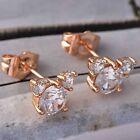 Stud Earrings Rose 22K Yellow Gold Filled Micky earrings for kids