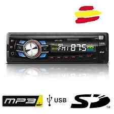 Radio coche con MP3 USB SD y entrada auxiliar para 3,5mm mini jack desmontable