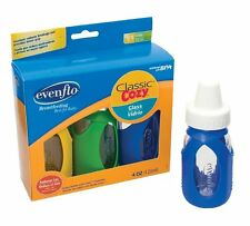 Evenflo Cosy Classic Glass Bottles 3PK 120ml 4oz Random Colors of the Bottles