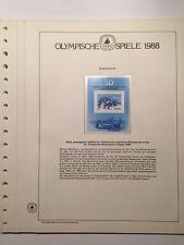 Olympische Spiele 1988, Sowjetunion, postfrisch in 4 Vordruckblättern