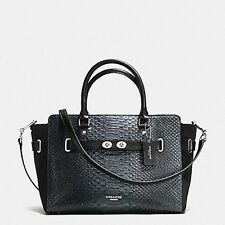 Coach BLAKE CARRYALL IN METALLIC EXOTIC EMBOSSED LEATHER F36655 MSRP $750