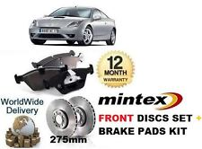 FOR TOYOTA CELICA 2002-2007 1.8i IMPORT NEW FRONT BRAKE DISCS + DISC PADS SET