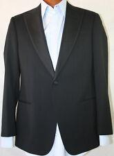 New Armani Collezioni 'GIORGIO' 1-BT Black Wool Tuxedo Suit US 46L/W39 Eu 56L.