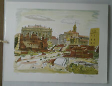 LITHOGRAPHIE ORIGINALE   MARSEILLE YVES BRAYER XIII/XX