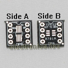 5 Pcs SSOP8 SOT23  to DIP8 adapter PCB SMD Convertor