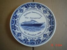 Superb Delft Hanging Wall Plate HOLLAND AMERICA LINE THE INAUGURAL MS VEENDAM 96