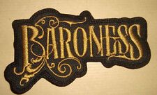 BARONESS - LOGO Embroidered PATCH Kylesa Mastodon High on Fire The Sword Sleep