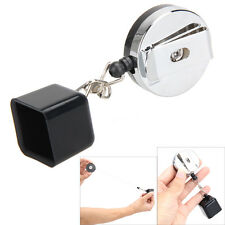 Billiards Snooker Pool Cue Chalk Holder Retractable Drawing w/ Belt Clip 8 Ball