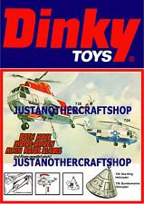 Dinky Toys 724 736 Sea King Helicopter Large Size Poster Advert Leaflet Sign