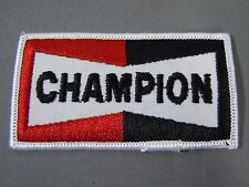 "CHAMPION SPARK PLUGS Embroidered Iron On Uniform-Jacket Patch 3 1/2"" x 2"""