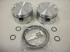 "Harley Evo Powerhouse 114"" Engine Pistons Rings Pins Clips Keith Black Mid-USA"